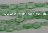 COV45 15.5 inches 8*10mm oval imitation green fluorite beads wholesale