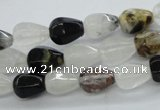 COZ10 15.5 inches 8*12mm faceted teardrop opal quartz beads wholesale