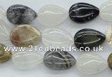 COZ23 15.5 inches 10*14mm flat teardrop opal quartz beads wholesale