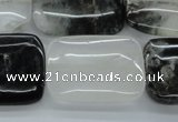 COZ26 15.5 inches 22*30mm rectangle opal quartz beads wholesale