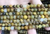 CPB1051 15.5 inches 6mm round golden pietersite beads wholesale