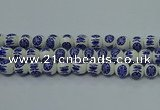 CPB535 15.5 inches 14mm round Painted porcelain beads