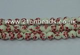 CPB615 15.5 inches 14mm round Painted porcelain beads