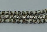 CPB643 15.5 inches 10mm round Painted porcelain beads