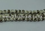 CPB711 15.5 inches 6mm round Painted porcelain beads