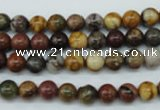 CPJ152 15.5 inches 6mm round picasso jasper gemstone beads