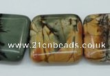 CPJ169 15.5 inches 22*30mm rectangle picasso jasper gemstone beads