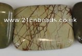 CPJ360 15.5 inches 30*40mm rectangle picasso jasper gemstone beads