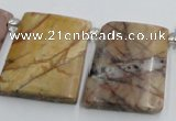CPJ377 Top drilled 22*26mm trapezoid picasso jasper beads