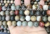 CPJ484 15.5 inches 12mm round polychrome jasper beads wholesale