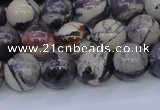 CPJ604 15.5 inches 12mm round purple striped jasper beads wholesale