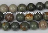 CPJ62 15.5 inches 10mm round picasso jasper gemstone beads