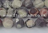 CPJ621 15.5 inches 8mm faceted nuggets purple striped jasper beads