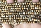 CPJ658 15.5 inches 4mm round picture jasper beads wholesale