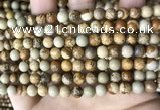 CPJ659 15.5 inches 6mm round picture jasper beads wholesale