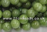 CPO04 15.5 inches 12mm round olivine gemstone beads wholesale