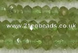 CPO118 15.5 inches 2*4mm faceted rondelle peridot gemstone beads
