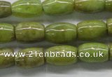 CPO24 15.5 inches 6*10mm drum olivine gemstone beads wholesale