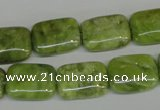 CPO37 15.5 inches 13*18mm rectangle olivine gemstone beads wholesale