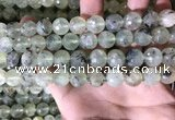 CPR360 15.5 inches 12mm faceted round prehnite beads wholesale