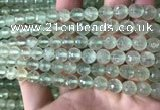CPR362 15.5 inches 8mm faceted round prehnite gemstone beads