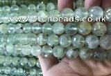 CPR364 15.5 inches 12mm faceted round prehnite gemstone beads
