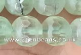 CPR366 15.5 inches 8mm faceted round prehnite gemstone beads