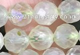 CPR376 15.5 inches 6mm faceted nuggets prehnite gemstone beads