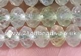 CPR380 15.5 inches 4*6mm faceted rondelle prehnite gemstone beads