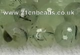 CPR411 15.5 inches 8mm faceted round prehnite gemstone beads