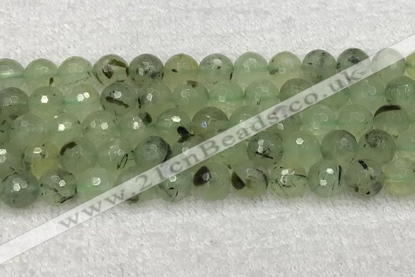 CPR412 15.5 inches 10mm faceted round prehnite gemstone beads