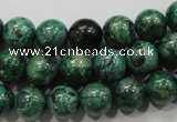 CPT206 15.5 inches 10mm round green picture jasper beads