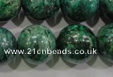 CPT211 15.5 inches 20mm round green picture jasper beads