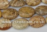 CPT251 15.5 inches 13*18mm oval picture jasper beads wholesale