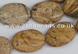 CPT252 15.5 inches 15*20mm oval picture jasper beads wholesale