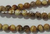 CPT451 15.5 inches 6mm round picture jasper beads wholesale