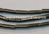 CPY126 15.5 inches 4*13mm tube pyrite gemstone beads wholesale
