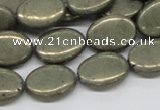CPY14 16 inches 13*18mm oval pyrite gemstone beads wholesale