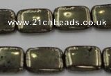 CPY243 15.5 inches 13*18mm rectangle pyrite gemstone beads wholesale