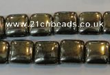 CPY317 15.5 inches 12*12mm square pyrite gemstone beads wholesale