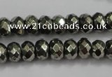 CPY39 16 inches 3*6mm faceted rondelle pyrite gemstone beads wholesale
