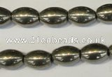 CPY62 15.5 inches 10*14mm rice pyrite gemstone beads wholesale