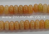 CRB04 15.5 inches 5*10mm rondelle red aventurine jade beads