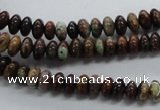 CRB10 15.5 inches 4*6mm rondelle rainbow agate gemstone beads
