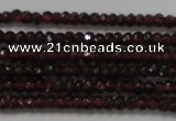 CRB100 15.5 inches 2*3.5mm faceted rondelle red garnet gemstone beads