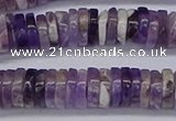 CRB1008 15.5 inches 2*7mm heishi dogtooth amethyst beads wholesale