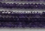 CRB101 15.5 inches 2.5*4mm faceted rondelle amethyst beads