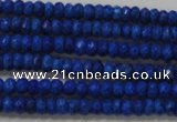 CRB106 15.5 inches 2.5*4mm faceted rondelle dyed turquoise beads