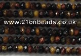 CRB108 15.5 inches 2.5*4mm faceted rondelle red & yellow tiger eye beads