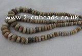 CRB1109 15.5 inches 5*8mm - 9*18mm rondelle chrysanthemum agate beads